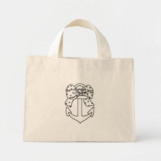 Marine anchor mini tote bag