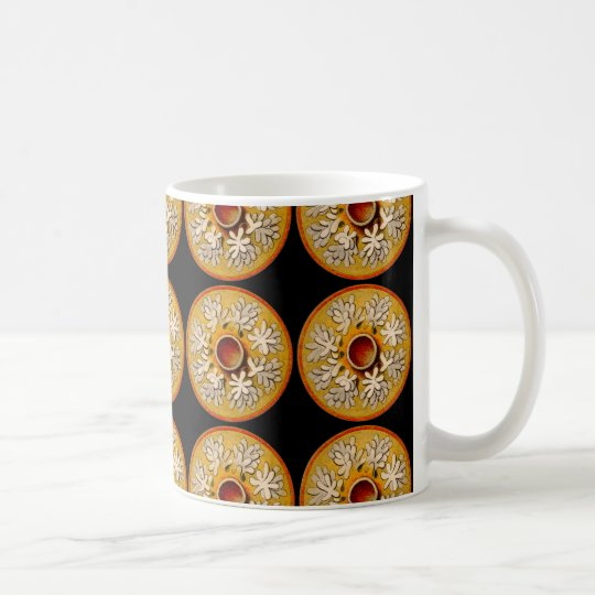 Marine animals - Jellyfish, black background Coffee Mug