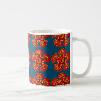 Marine animals - Starfish, blue background Coffee Mug