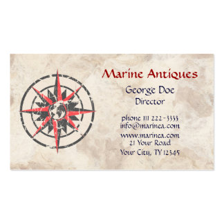 Marine Antiques Pack Of Standard Business Cards
