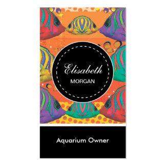 Marine Aquarium Colorful Tropical Fish Pattern Pack Of Standard Business Cards