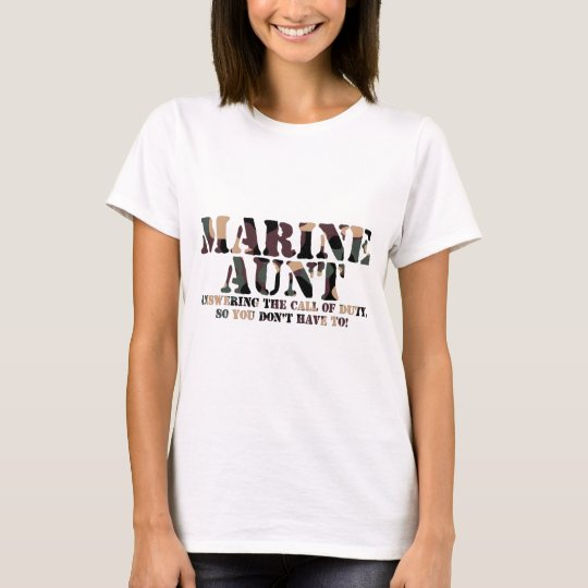Marine Aunt Answering Call T-Shirt