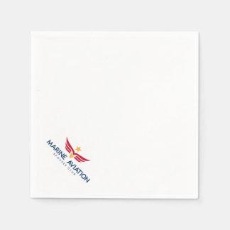 Marine Aviation Spouses Club Logo Cocktail Napkins Disposable Serviettes