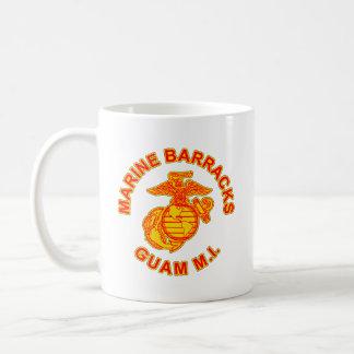 Marine Barrack Guam Logo Basic White Mug