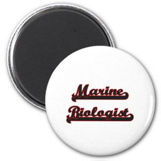 Marine Biologist Classic Job Design 6 Cm Round Magnet