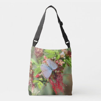 Marine Blue Butterfly Crossbody Bag