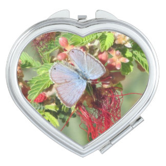 Marine Blue Butterfly Mirror For Makeup
