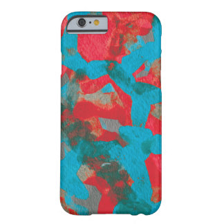 Marine Blue Red Abstract Art iPhone 6 Case Barely There iPhone 6 Case