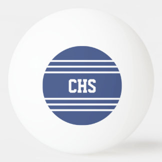 Marine Blue Stripes custom monogram balls