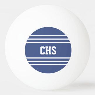 Marine Blue Stripes custom monogram balls