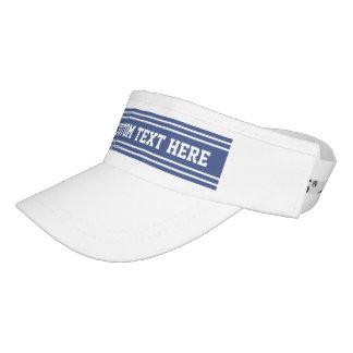 Marine Blue Stripes custom text visor