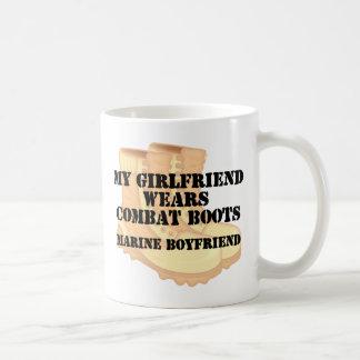 Marine Boyfriend Desert Combat Boots Coffee Mug