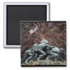 Marine Corp War Memorial with Fireworks Magnet