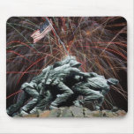Marine Corp War Memorial with Fireworks Mousepad