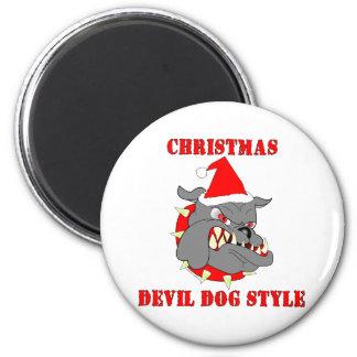 Marine Corps Christmas Devil Dog Style Fridge Magnet