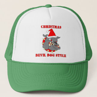 Marine Corps Christmas Devil Dog Style Trucker Hat