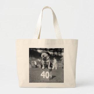 Marine Corps Mascot, 1920s Large Tote Bag