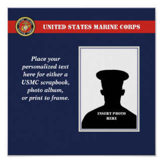Marine Corps Scrapbook Photo Page Poster
