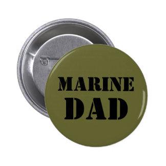 Marine Dad 6 Cm Round Badge