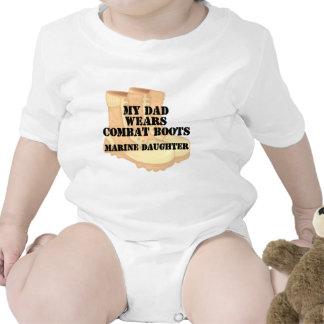 Marine Daughter Dad Desert Combat Boots Tshirt