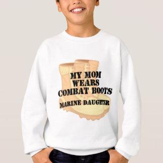 Marine Daughter Mom Desert Combat Boots T Shirts