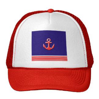 marine design trucker hat