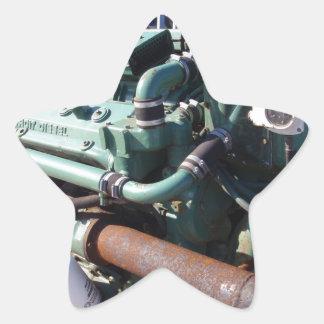 Marine Diesel Engine Star Sticker