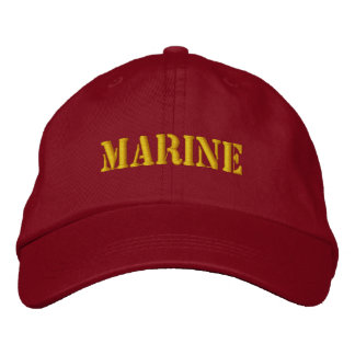 MARINE EMBROIDERED HAT
