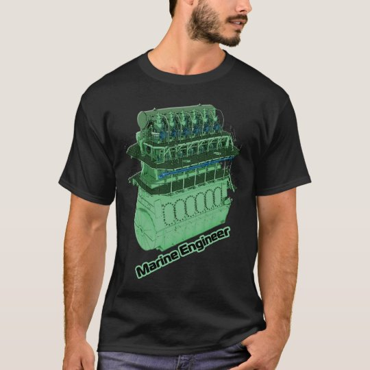 Marine Engineer (MAN) - Black T-Shirt