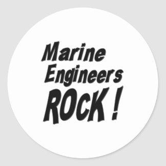 Marine Engineers Rock! Sticker