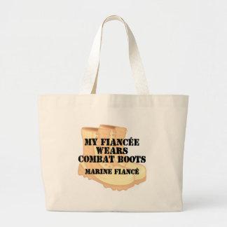 Marine Fiance Desert Combat Boots Canvas Bag
