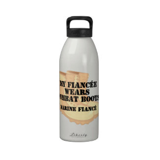 Marine Fiance Desert Combat Boots Water Bottle