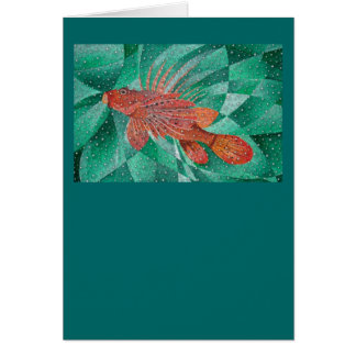 Marine Fire Fish or Lionfish Card
