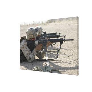 Marine fires their M16A2 service rifles Canvas Print