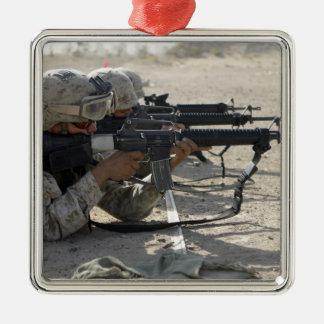 Marine fires their M16A2 service rifles Christmas Ornament