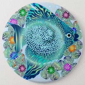 Marine Fish Aquarium 6 Cm Round Badge