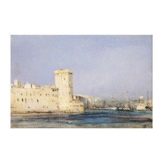 Marine Fortress, 19th century Canvas Print