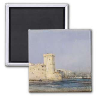 Marine Fortress, 19th century Square Magnet