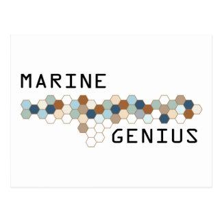 Marine Genius Postcard
