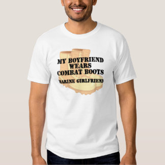 Marine Girlfriend Desert Combat Boots T-shirts