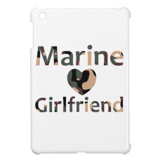 Marine Girlfriend Heart Camo iPad Mini Cover