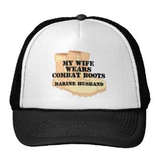 Marine Husband Desert Combat Boots Cap