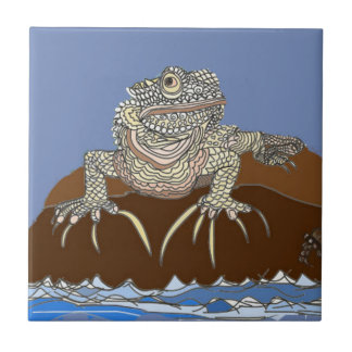 Marine Iguana on Rock with Hermit Crab Tile