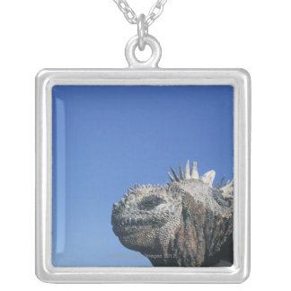 Marine Iguana Silver Plated Necklace