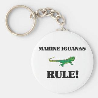 MARINE IGUANAS Rule! Basic Round Button Key Ring