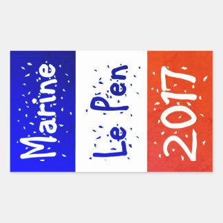 Marine La Pen 2017 popular political sticker