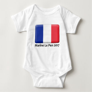 Marine Le Pen 2017 French Flag political designs Baby Bodysuit