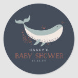 Marine Life Baby Shower Round Sticker