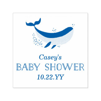 Marine Life Baby Shower Stamp