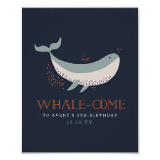 Marine Life Birthday Welcome Print